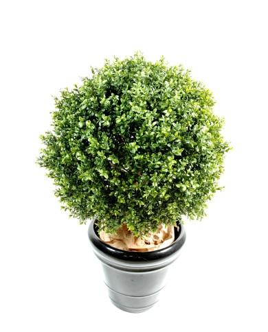 Künstliche Buchsbaumkugel auf Stamm, ca. 33cm (Ø 22cm)