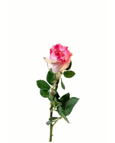 Künstliche Rose Bouton-Joey rosa, ca. 67cm
