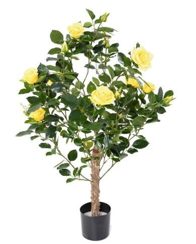 Künstlicher Rosenbaum Royal gelb, ca. 100cm
