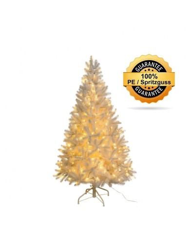 Künstlicher Tannenbaum, weiss, beschneit, Spritzguss, ca. 150cm