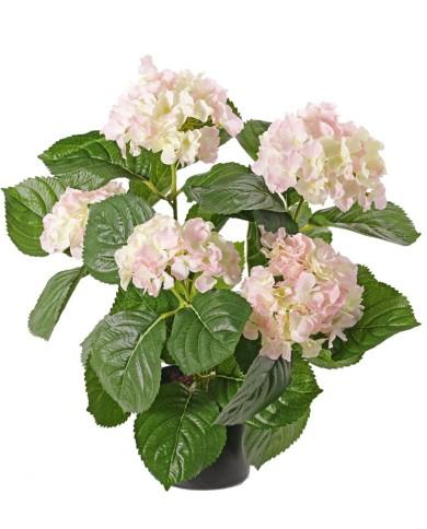 Kunstpflanze Hortensie Deluxe rosa blühend ca. 36cm